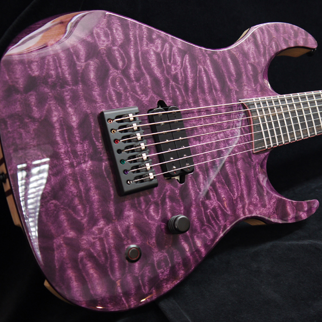 Spalted English ash bass electric guitar bookmatched drop top